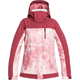 Roxy Jetty Block Snow Jacket Women, silver pink tie dye